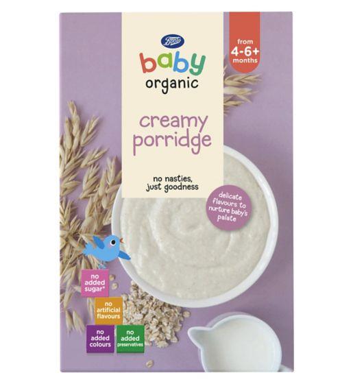 Boots Baby Organic Creamy Porridge 4-6